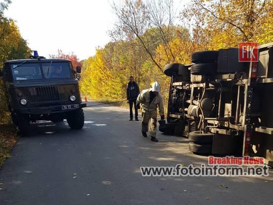 ДТП на Кіровоградщині, перекинувся автомобіль ФОТО,