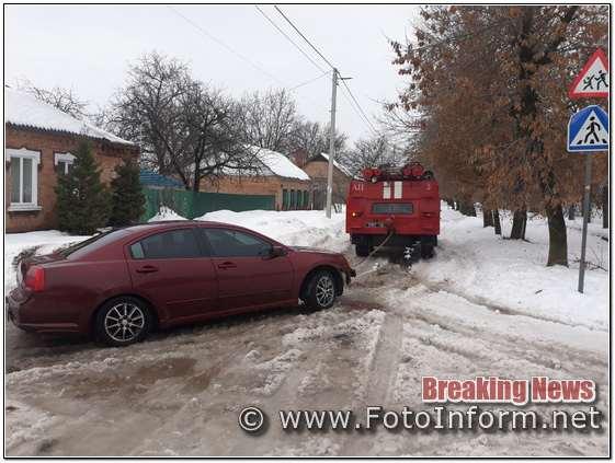 На Кіровоградщині, громадянам, які опинились у безвиході ,на дорогах надають допомогу (ФОТО)