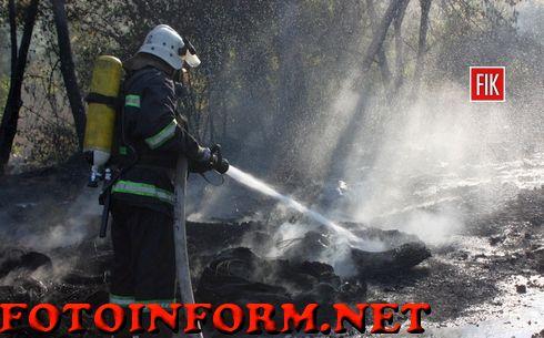 Кіровоград: пожежа на Балашівці (ФОТО)
