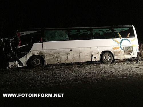На Кіровоградщині у зіткненні двох автобусів постраждали 11 людей