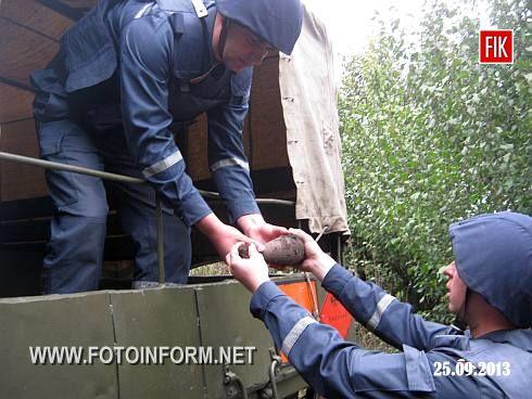 24 вересня до Служби порятунку надійшло повідомлення про виявлення застарілого боєприпасу у с.Олексіївка Кіровоградського району.