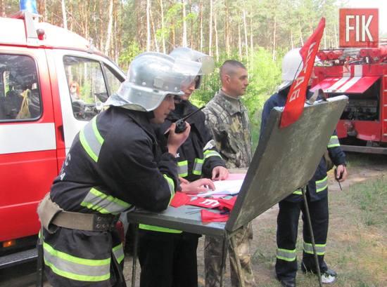 11 травня рятувальники 2-го Державного пожежно-рятувального загону м. Олександрії та лісівники Олександрійського лісництва ДП «Онуфріївський лісгосп» провели спільні пожежно-тактичні навчання щодо гасіння лісової пожежі.