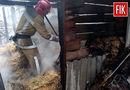 14 серпня о 09:59 до Служби порятунку «101» надійшло повідомлення про пожежу сінника у с.Дружелюбівка Добровеличківського району.