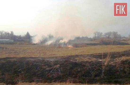 20 березня о 14:36 до Служби порятунку «101» надійшло повідомлення про займання сухої трави на околиці с. Маковіївка Бобринецького району.