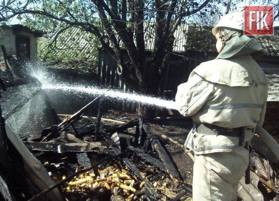 За добу, що минула, пожежно-рятувальні підрозділи Кіровоградської області 3 рази залучались до ліквідації пожеж споруд господарського призначення на території приватних домоволодінь.