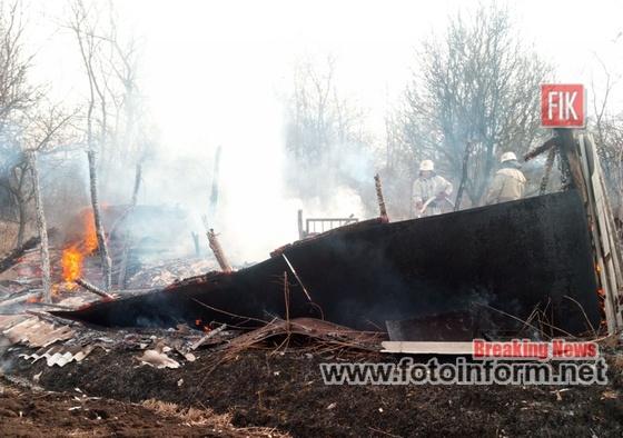 Кіровоградщина, доба, ліквідовано три пожежі