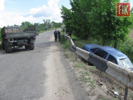 20 травня о 05:40 до Служби порятунку «101» надійшло повідомлення про дорожньо-транспортну пригоду на автодорозі Кропивницький-Олександрія вздовж р. Бешка у Олександрійському районі.