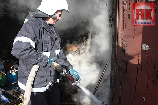22 жовтня о 14:50 до Служби порятунку «101» надійшло повідомлення про пожежу в приватному гаражі по вул.Чигиринській у м.Кропивницький.