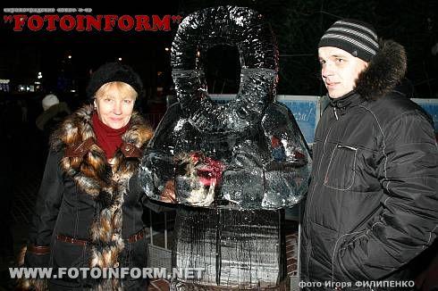 Главная елка Кировограда зажгла свои огни (ФОТОРЕПОРТАЖ)