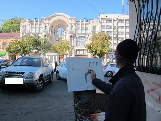 У Кропивницькому відбувся пленер по написанню будівлі обласного художнього музею
