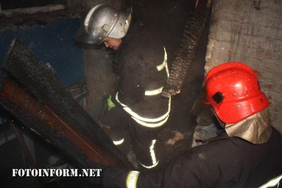 Кропивницький: в дев'ятиповерховому будинку на вул. Попова виникла пожежа (ФОТО)