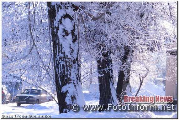 Засніжений Кропивницький, у фотографіях Ігоря Філіпенка,