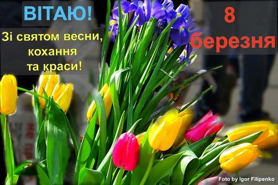 8 березня, кропивницький, вітання, листівка з 8 березня, 8 марта, міжнародний жіночий день, фото филипенко, кропивницький новини