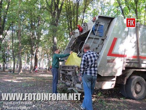 Сегодня, 11 сентября, в парке Пушкина состоялся субботник, посвященный Дню города.