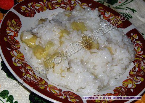 Рисовая каша с бананом (ФОТО)