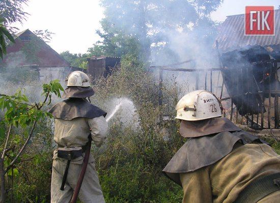 За минулу добу вогнеборці Кіровоградської області тричі виїжджали на гасіння пожеж споруд різного призначення.