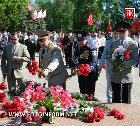 Кіровоград: працівники міліції взяли участь у заходах з нагоди відзначення 68-ої річниці Перемоги у Великій Вітчизняній війні (ФОТО)