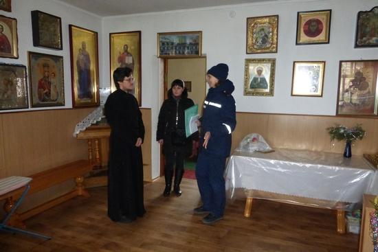 5 січня рятувальники Управління ДСНС в області провели профілактично-роз'яснювальну роботу зі священиками та вірянами.
