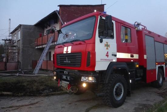 14 квітня о 05:13 до Служби порятунку «101» надійшло повідомлення про пожежу на вул. Металургів у селищі Новому (м. Кропивницький).