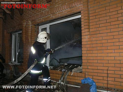 МНС: У Кіровограді ліквідовано пожежу на площі 200 кв метрів (ФОТО)