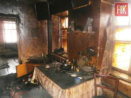 8 лютого о 12:58 до Служби порятунку «101» надійшло повідомлення про пожежу житлового будинку на вул. Центральній в с. Дмитрівка Знам'янського району.
