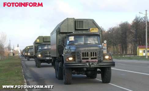 Рятувальна техніка Кіровоградського гарнізону пройшла випробувальний марш (ФОТО)