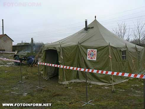 Кіровоград: фоторепортаж аварійно-відновлювальних робіт на території котельні у селищі Нове