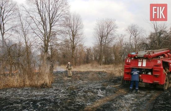 За минулу добу пожежно-рятувальні підрозділи Кіровоградської області тричі виїжджали для ліквідації загорянь сухостою.