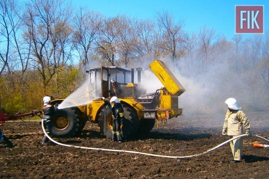 26 квітня о 12:17 до Служби порятунку «101» надійшло повідомлення про пожежу трактора на відкритій території поблизу с. Богданівка Знам'янського району.