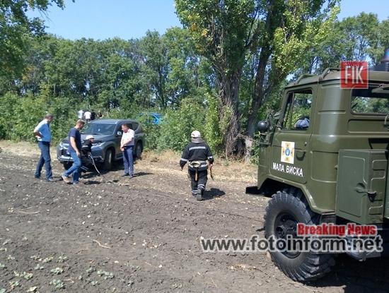 На Кіровоградщині легковик потрапив у кювет