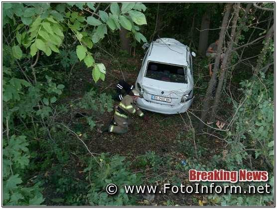 На Кіровоградщині у ДТП перекинулася автівка
