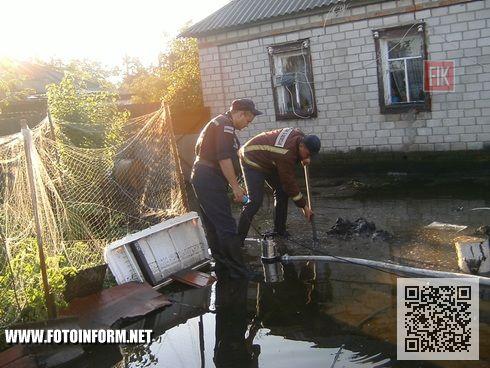 2 липня сильна злива, що пройшла у м.Світловодську, завдала немало шкоди і клопоту місцевим жителям.