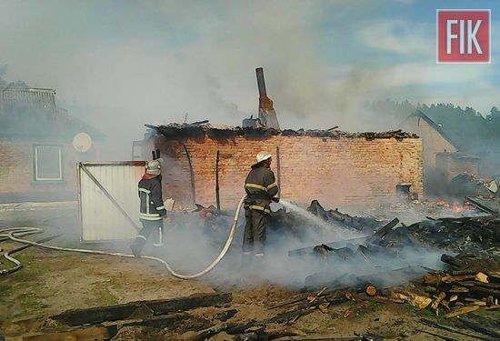 За добу, що минула, пожежно-рятувальні підрозділи Кіровоградської області 4 рази залучались до ліквідації пожеж будівель та споруд господарського призначення на території приватних домоволодінь.