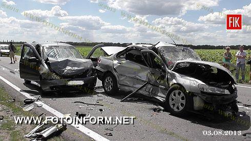 Кіровоградщина: ДТП - постраждало 6 осіб