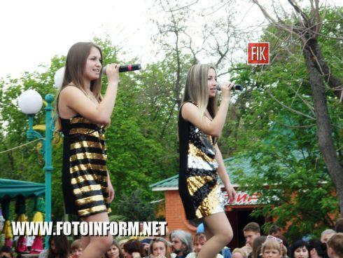 Вчера, 1 мая, в Кировоградском Дендропарке состоялось открытие седьмого Международного фестиваля песни и танца «Объединим детей искусством».