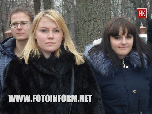 Кировоградские студенты вместе с защитниками нашей страны отпраздновали народный праздник – Масленицу.