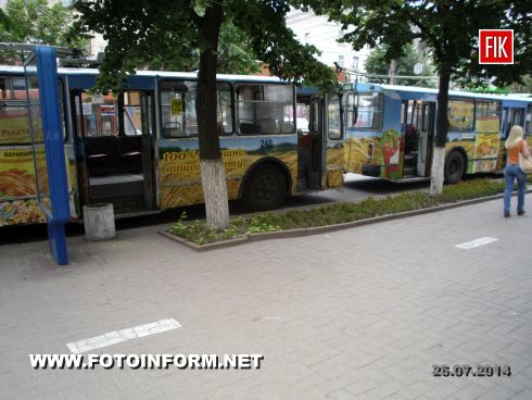 Сегодня, 25 июля, в центре города остановилось движение троллейбусов.