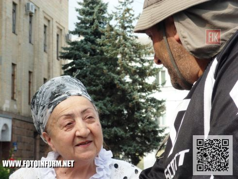 Гражданин Грузии, велосипедист Нодар Беридзе побывал в Кировограде в рамках велотура по городам Украины, под названием «Все за мир».