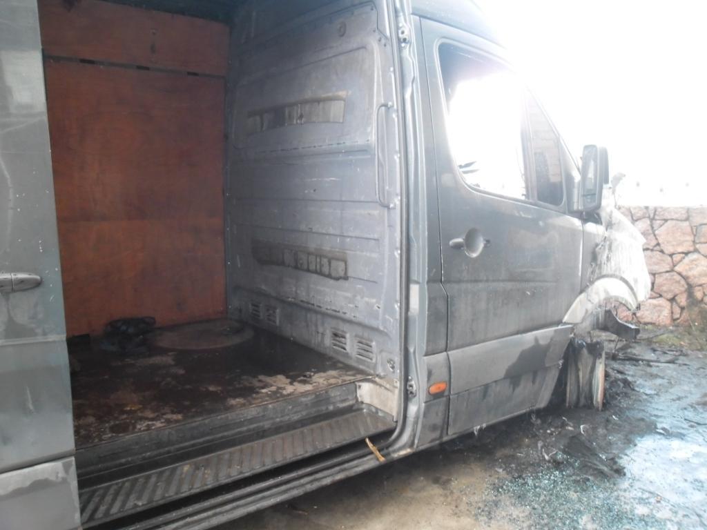 6 грудня о 12:08 до Служби порятунку «101» надійшло повідомлення про пожежу мікроавтобуса «MERCEDES Sprinter» на території приватного домоволодіння у м. Новоукраїнка.