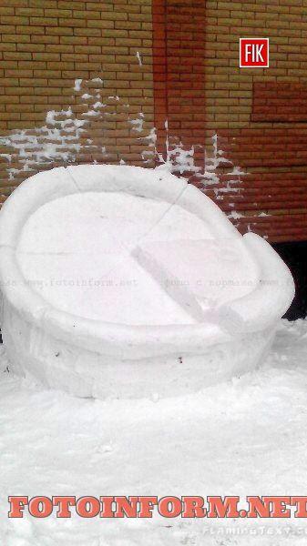 В Кировограде появилась огромная снежная пицца, ресторан «Сорренто»
