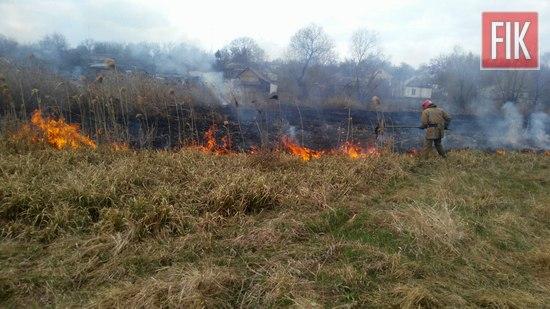 За добу, що минула, рятувальникам Кіровоградської області довелось 27 разів виїжджати на гасіння пожеж сухої минулорічної рослинності та сміття.