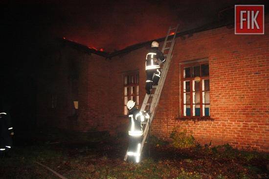 31 жовтня о 03:53 до Служби порятунку «101» надійшло повідомлення про пожежу будівлі на вул. Арсенія Тарковського м. Кропивницький.