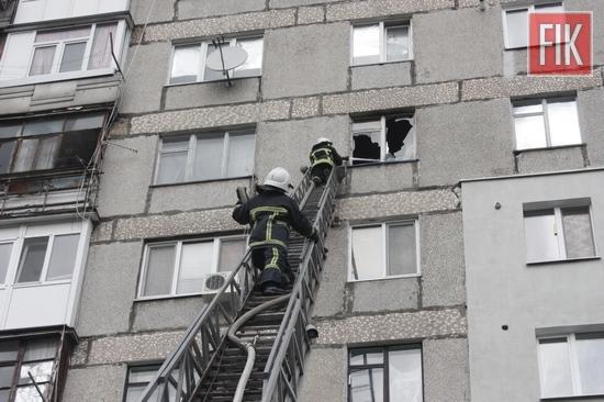 Кропивницький: пожежа по провулку Ковалівському, є постраждалі