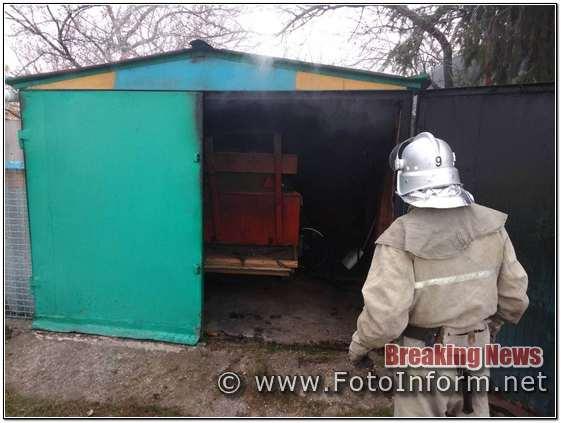 Кіровоградщина, пожежі в гаражі,виявлено тіло загиблого чоловіка