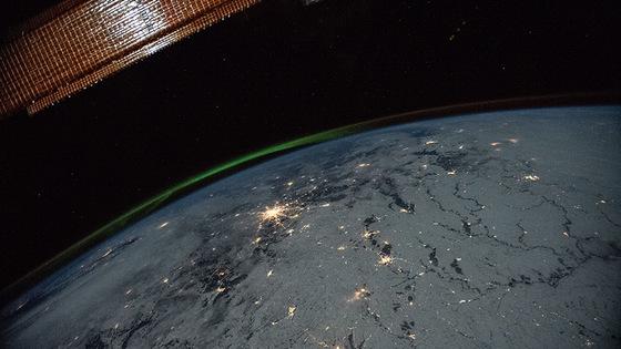 NASA, знімок нічної Землі з космосу,