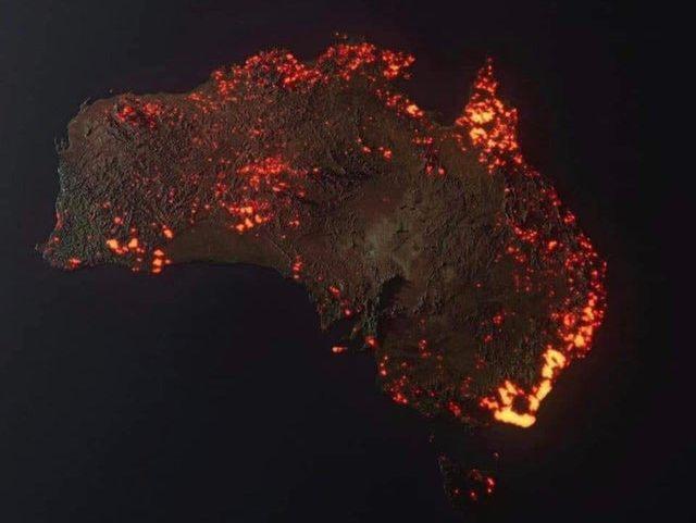 Масштабные пожары в Австралии: шлейф дыма достиг уже Новой Зеландии
