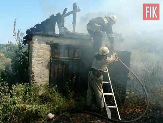 7 серпня о 13:15 до Служби порятунку «101» надійшло повідомлення про пожежу на території приватного домоволодіння на вул. Самохвалова м. Олександрія.