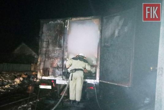 22 лютого о 19:49 до Служби порятунку «101» надійшло повідомлення про пожежу вантажного автомобіля на вул. Центральній у с. Берестяги Гайворонського району.