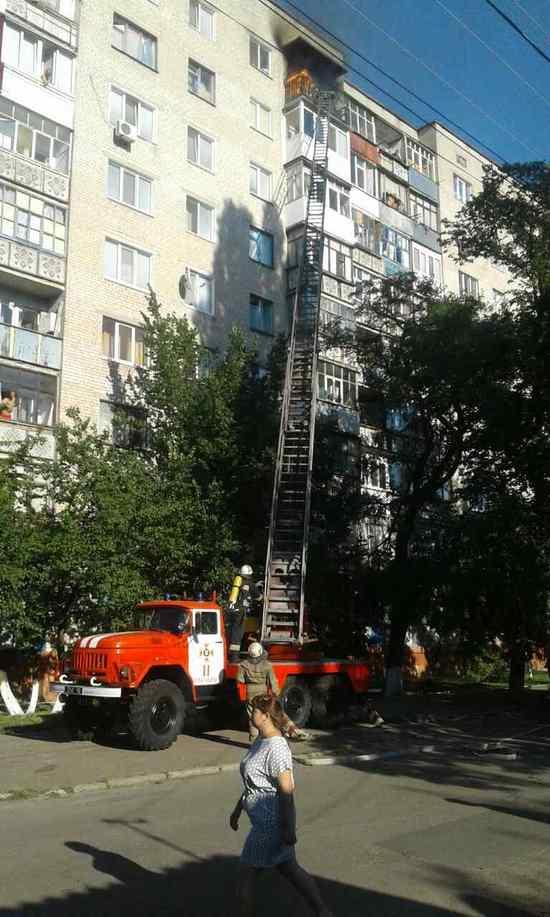 18 липня о 17:58 до Служби порятунку «101» надійшло повідомлення про пожежу в 9-поверховому житловому будинку на вул. Святомиколаївська м. Олександрія.