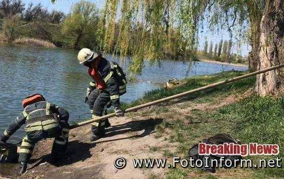 На Кіровоградщині вилучили тіло загиблого чоловіка з річки